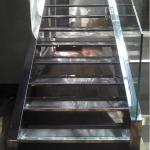 Escada de aço inox